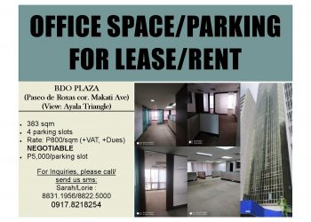 OFFICE SPACE/PARKING FOR LEASE/RENT