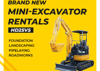 Brand New Excavator for Rent